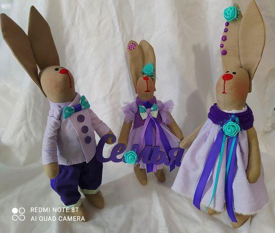 Зайцы. Зайка. Заяц. Кролик. Семья