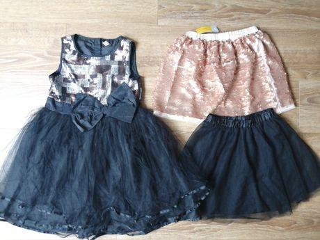 Suknia wizytowa dla dziewczynki r. 146 + gratisy!