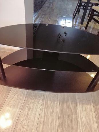 Stolik pod tv, szkło hartowane,czarny