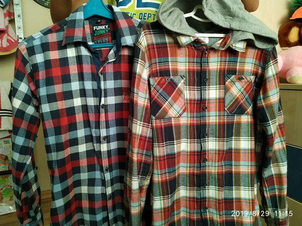 Рубашки на подростка 10-12 лет