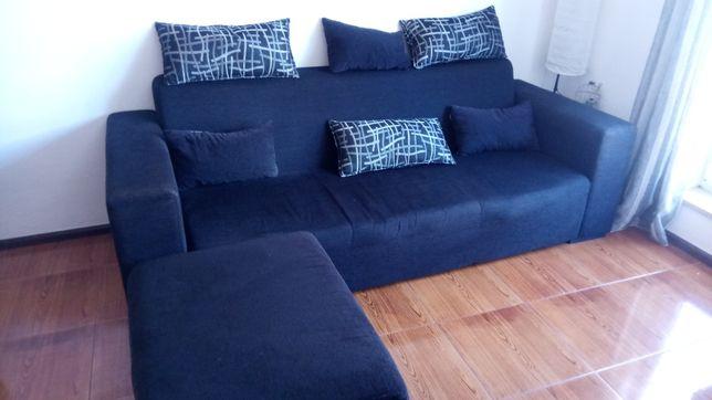 Sofá 3 lugares com chaiselong