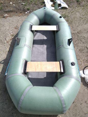 Лодка резиновая надувная двухместная Байкал. Човен надувний. Лисичанка