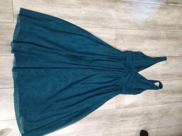 Turkusowa suknia 36