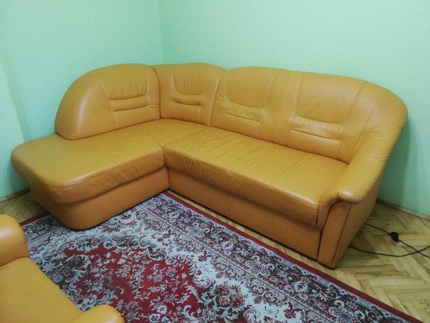 Narożnik + fotel skóra naturalna