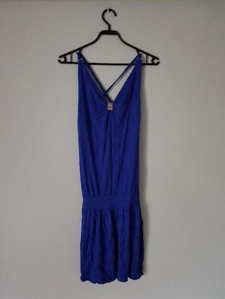 Granatowa letnia sukienka