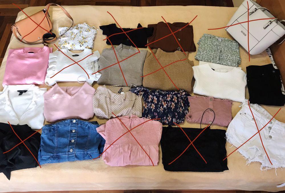 Лот, пакет вещей, джинсы Zara, платье Zara, кофта H&M, Berska. Запорожье - изображение 1