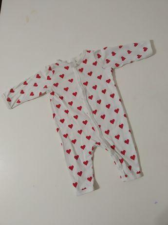 H&M Śpioszki śpiochy pajac pajacyk ubranko dla dziewczynki 56 1-2 mca