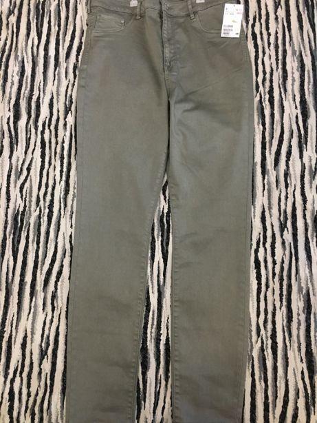 Брюки/джинсы стренчевые от H&M с высокой посадкой 33/32