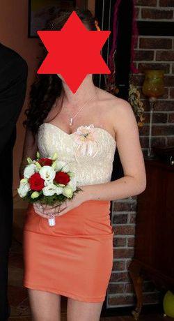 Sukienka na wesele, koronka