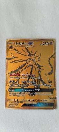 Gold Full Art Solgaleo GX - Oryginalna Karta Pokemon Hidden Fates