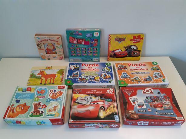 Puzzle, Pidzamersi, budowlane, pojazdy specjalne, Mc Queen,