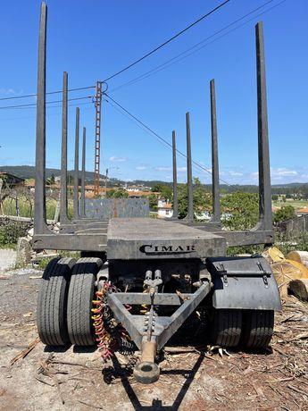 Reboque de Transporte de Madeira