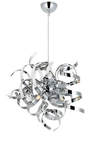 Lampa sufitowa wisząca Heka Curled Chrome 6 lamp x G9 Polecam