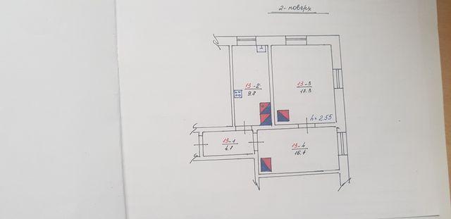 продається 2х кімнатна квартира в м.Бібрка