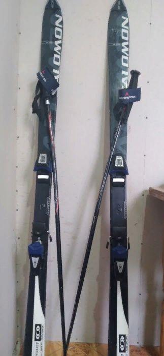 Продаются качественные лыжи фирмы salomon в комплекте с чехлом Луганск - изображение 1