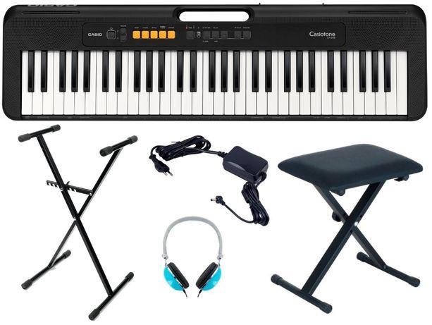 Keyboard Casio CT S100 DO NAUKI Pulpit Statyw Ławka Słuchawki