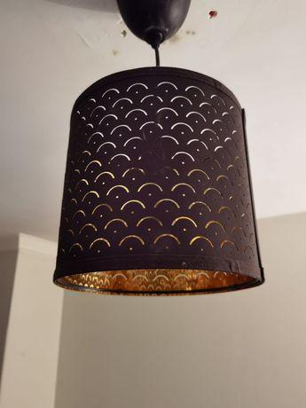 NYMÖ Abajur preto/bronze 24cm