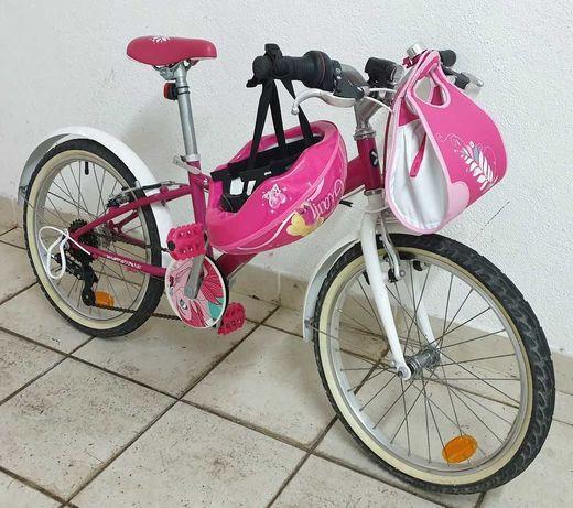 """Bicicleta menina 20"""" BTwin Mistigirl 500 - ótimas condições"""