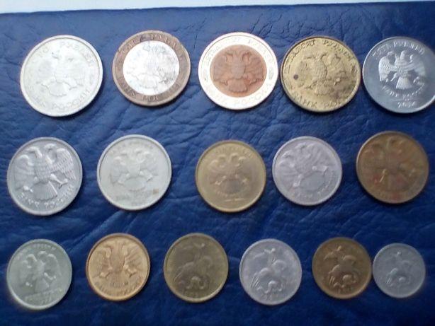 Набор монет россии -350гр.