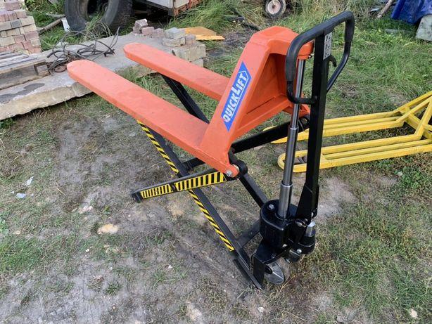 Paleciak Wózek paletowy nożycowy krzyżowy  wysokiego podnosznia