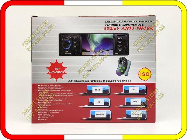 """Автомагнитола Pioneer 4219 с пультом на руль, экран 4"""", USB, Bluetooth"""
