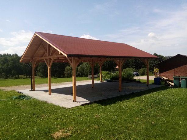 Wiata drewniana zadaszenie garaż altana taras Producent!