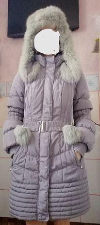 Зимняя тёплая курточка пальто женская