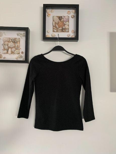 r. 36 / r. S / ZARA czarna bluzka z dużym dekoltem na plecach NOWA