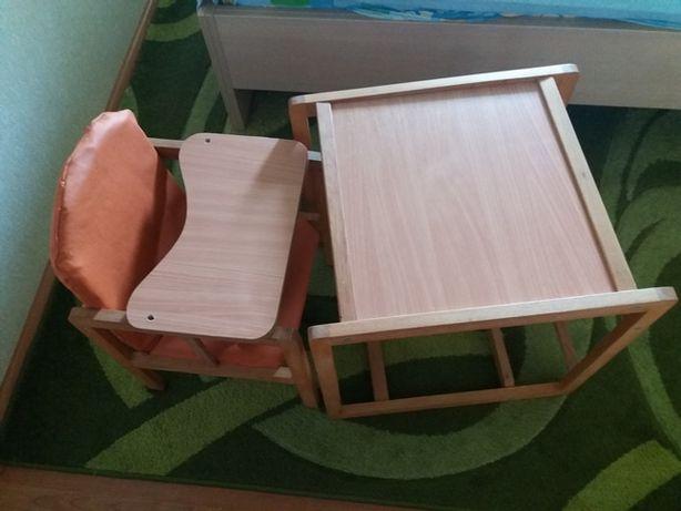 """Продам дитячий стілець для годування ТМ """"Гойдалка"""" буковий"""