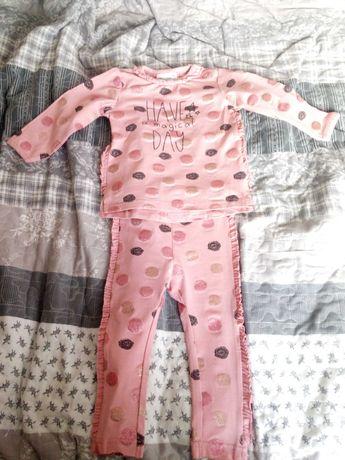 Komplet niemowlęcy dziewczęcy Coccodrillo roz. 74/80 + gratis