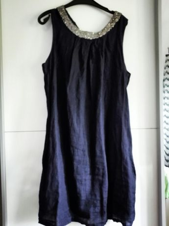 Sukienka ciążowa lniana 38 elegancka i na co dzień na