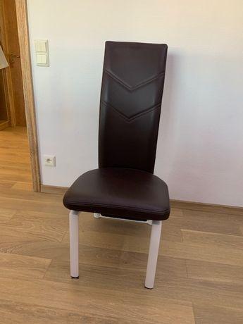 Krzesło tapicerowane skórzane