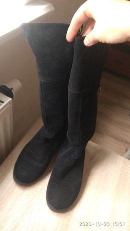 Сапоги замшевые, ботинки