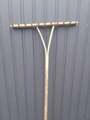 Граблі дерев'яні деревянные грабли ручная работа времен СССР