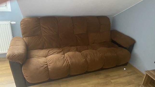 Zestaw wypoczynkowy tapicerowany kanapa plus dwa fotele