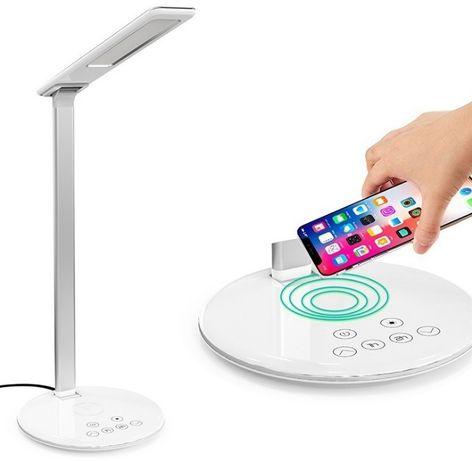 Настольная лед лампа с зарядкой к телефону