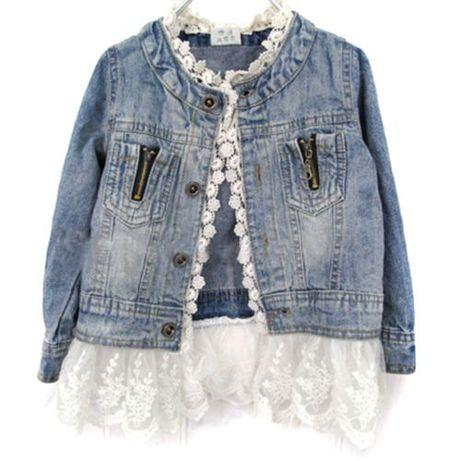 Новая джинсовая куртка (пиджак) на девочку размеры от 2-х до 8 лет