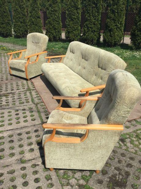 Norweski komplet wypoczynkowy z dwoma fotelami