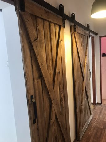 Drzwi przesuwne drewniane industrialne Najtańsza oferta