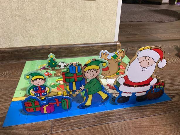 Пазл 3D рождественский новогодний