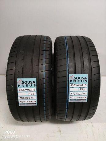 2 pneus semi novos 235-40-18 Michelin - Oferta dos Portes