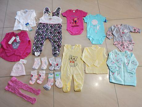 Nowe ubranka dla dziewczynki r. 62, 74, 80