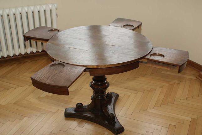 Stół antyczny okrągły rozsuwany.