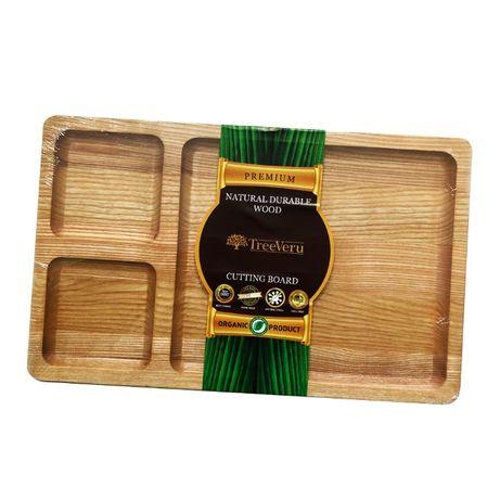Менажница деревянная TreeVeru прямоугольная 3 отделения 25х40 ясень
