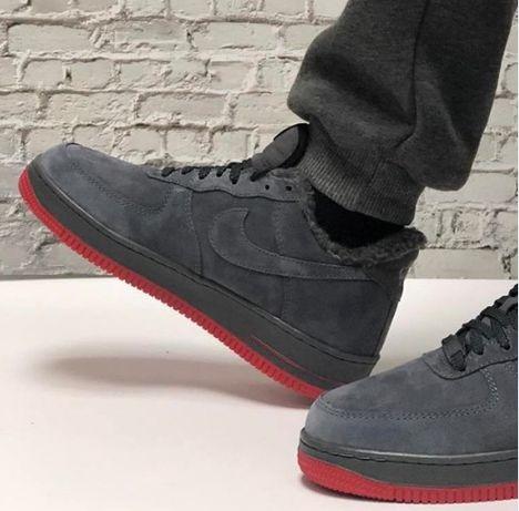 Зима nike air force качественные кроссовки натуральная замша мужские п