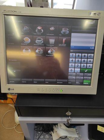 Conjunto POS ASUS Usado Táctil, gaveta e impressora talões
