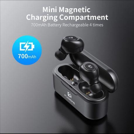 Słuchawki douszne bezprzewodowe bluetooth Floveme czarne TSW mikrofon