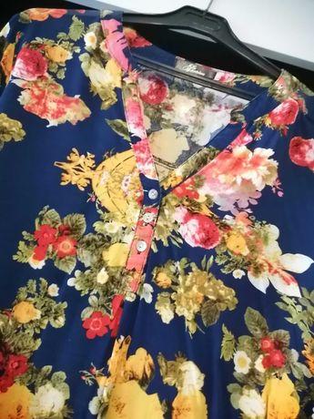Koszula w kwiatki L