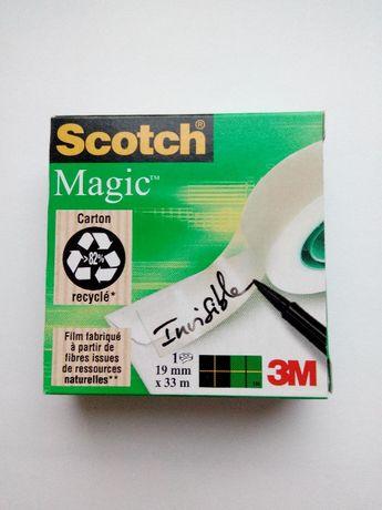 Скотч 3M Scotch Magic 19 мм х 33 м невидимый, матовая клейкая лента