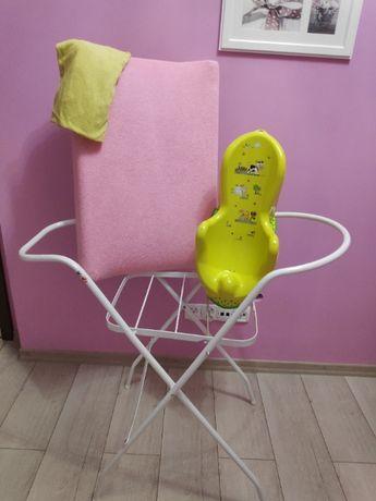 stojak pod wanienkę dużą+ przewijak + prześ+ fotelik